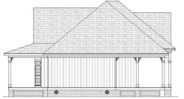 Farmhouse, Southern House Plan 65973 with 2 Beds, 2 Baths Picture 1