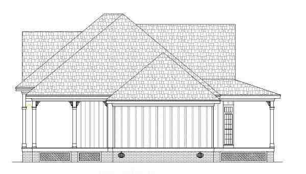 Farmhouse, Southern House Plan 65973 with 2 Beds, 2 Baths Picture 2