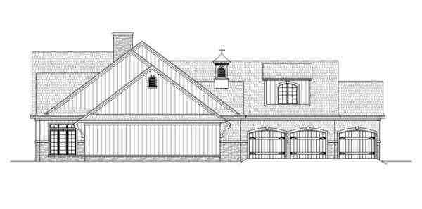 Traditional House Plan 65974 with 4 Beds, 3 Baths, 2 Car Garage Picture 2