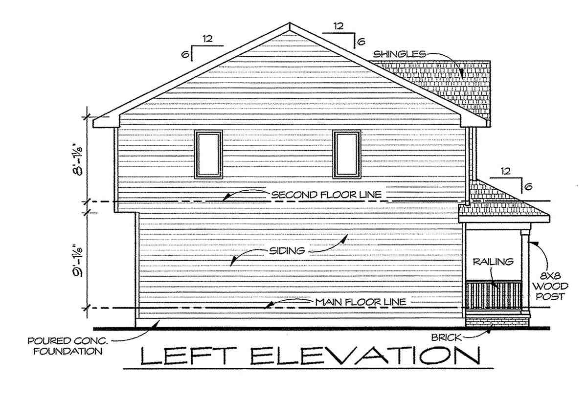 Traditional House Plan 66715 with 3 Beds, 3 Baths Picture 2