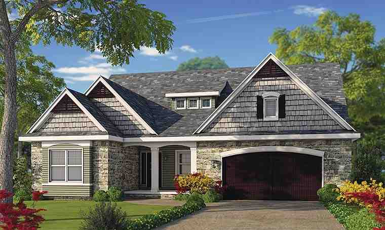 Cottage, Country, Craftsman, Southern, Traditional House Plan 66782 with 4 Beds, 5 Baths, 2 Car Garage Elevation