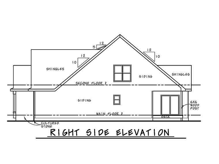 Cottage, Country, Craftsman, Southern, Traditional House Plan 66782 with 4 Beds, 5 Baths, 2 Car Garage Picture 2