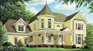 Victorian House Plan 67120 with 4 Beds, 4 Baths, 2 Car Garage Elevation