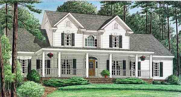 Country House Plan 67122 with 4 Beds, 4 Baths, 2 Car Garage Elevation