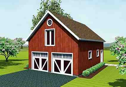 Farmhouse 2 Car Garage Apartment Plan 67279 Elevation