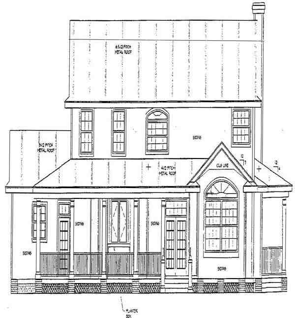 Southern House Plan 67412 with 3 Beds, 3 Baths Rear Elevation