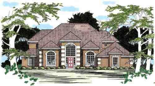 Traditional House Plan 67418 with 3 Beds, 4 Baths, 2 Car Garage Elevation