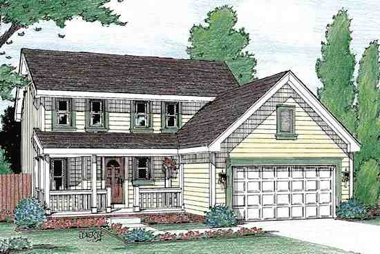 Colonial, Country, Southern House Plan 68108 with 3 Beds, 3 Baths, 3 Car Garage Elevation