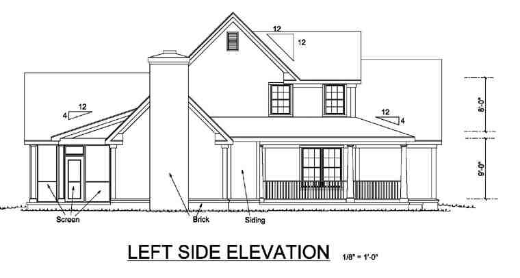 Country, Farmhouse House Plan 68170 with 3 Beds, 3 Baths, 2 Car Garage Picture 1