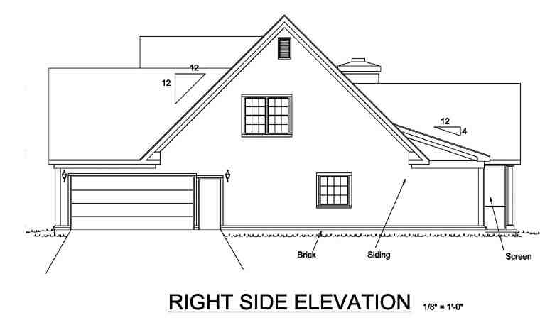 Country, Farmhouse House Plan 68170 with 3 Beds, 3 Baths, 2 Car Garage Picture 2