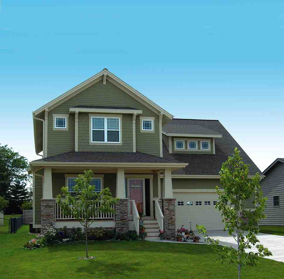 Craftsman House Plan 68234 with 3 Beds, 3 Baths, 2 Car Garage Picture 3