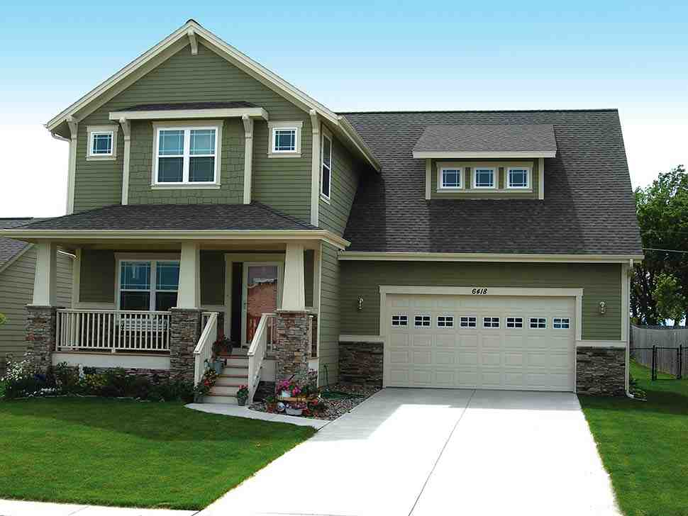Craftsman House Plan 68234 with 3 Beds, 3 Baths, 2 Car Garage Picture 4