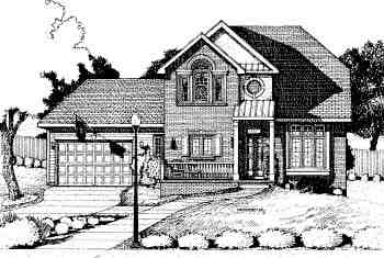 Traditional House Plan 68787 with 3 Beds, 3 Baths, 2 Car Garage Elevation