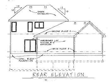 Traditional House Plan 68787 with 3 Beds, 3 Baths, 2 Car Garage Rear Elevation