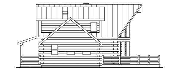 Contemporary, Log House Plan 69362 with 3 Beds, 2.5 Baths Picture 1