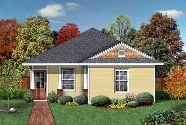 Craftsman House Plan 69910 with 3 Beds, 2 Baths Elevation