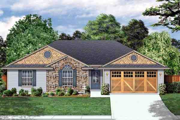 Traditional House Plan 69915 with 4 Beds, 2 Baths, 2 Car Garage Elevation