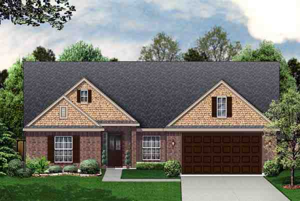 Traditional House Plan 69916 with 3 Beds, 2 Baths, 2 Car Garage Elevation