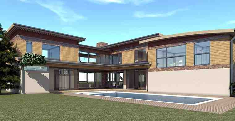 Modern House Plan 70837 with 6 Beds, 7 Baths, 3 Car Garage Picture 2