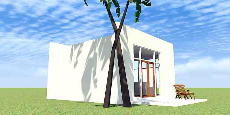 Coastal, Modern House Plan 70838 with 1 Beds, 1 Baths Picture 1
