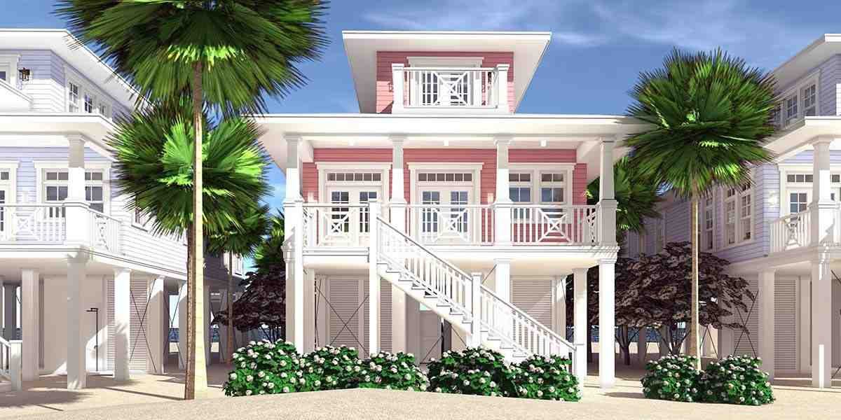 Coastal, Contemporary, Southern House Plan 70852 with 3 Beds, 2 Baths, 2 Car Garage Rear Elevation