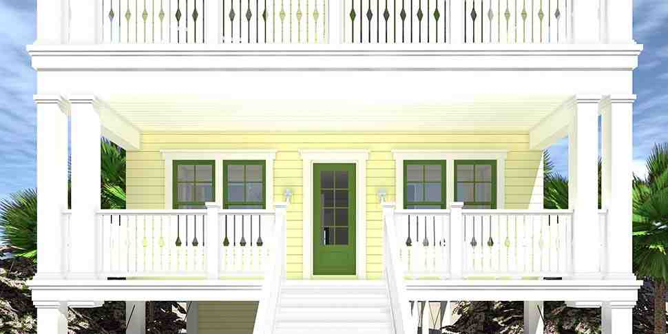 Coastal House Plan 70853 with 4 Beds, 4 Baths, 4 Car Garage Picture 2
