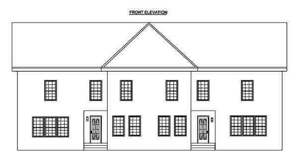 Contemporary Multi-Family Plan 70931 with 6 Beds, 6 Baths Picture 3
