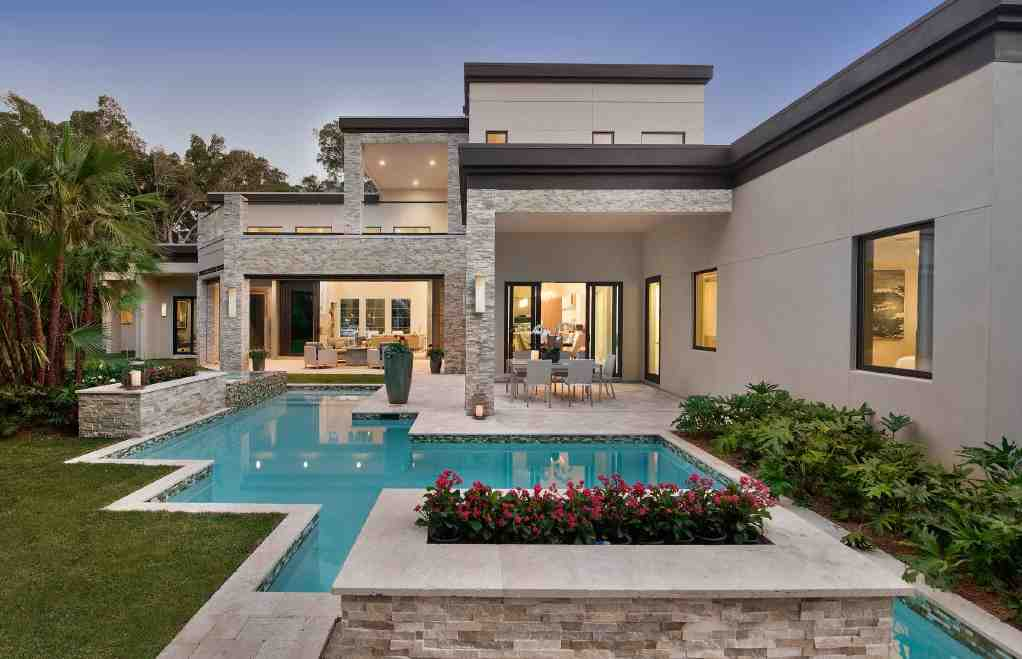 Contemporary, Modern House Plan 71554 with 6 Beds, 7 Baths, 3 Car Garage Picture 2