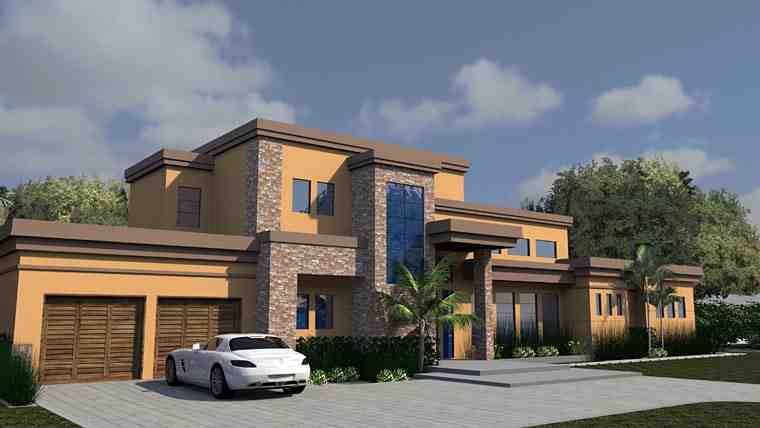 Contemporary, Modern House Plan 71554 with 6 Beds, 7 Baths, 3 Car Garage Picture 3