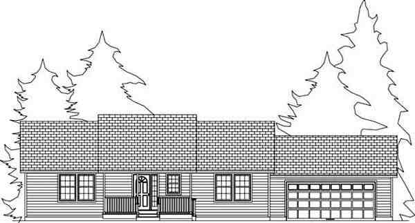 House Plan 71905 with 2 Beds, 2 Baths, 2 Car Garage Picture 8