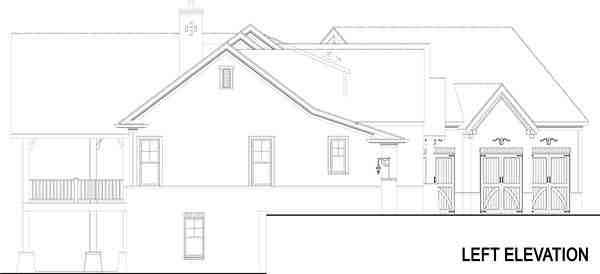 Craftsman, European, Traditional House Plan 72221 with 3 Beds, 4 Baths, 3 Car Garage Picture 2