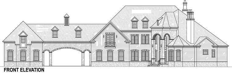 European, French Country House Plan 72226 with 5 Beds, 5 Baths, 5 Car Garage Picture 2