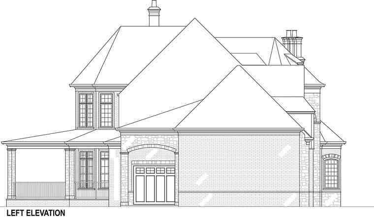 European, French Country House Plan 72226 with 5 Beds, 5 Baths, 5 Car Garage Picture 3