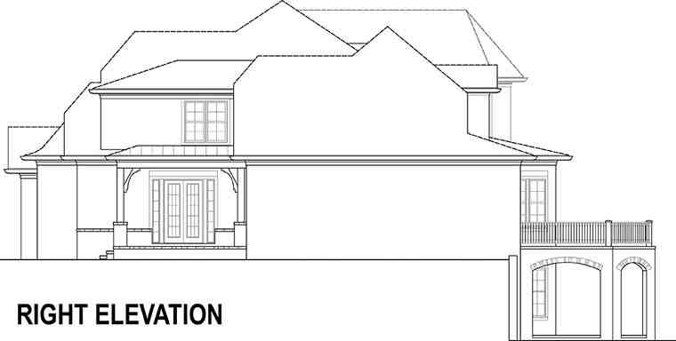 European, French Country House Plan 72230 with 4 Beds, 5 Baths, 3 Car Garage Picture 2