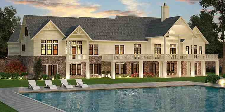 Southern, Traditional House Plan 72245 with 3 Beds, 3 Baths, 3 Car Garage Rear Elevation