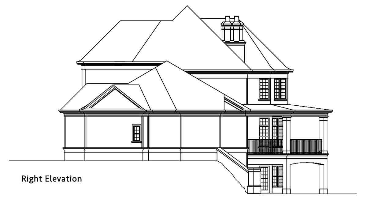 Country, European, French Country House Plan 72249 with 4 Beds, 4 Baths, 3 Car Garage Picture 1