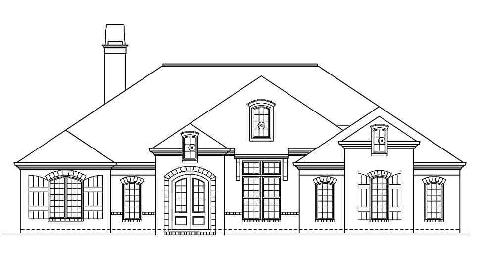 Ranch, Traditional House Plan 72251 with 3 Beds, 4 Baths, 2 Car Garage Picture 3