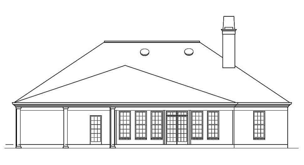 Ranch, Traditional House Plan 72251 with 3 Beds, 4 Baths, 2 Car Garage Picture 4
