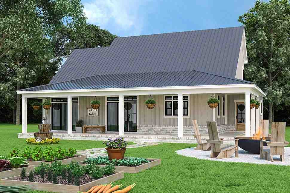 Country, Farmhouse, Southern House Plan 72252 with 3 Beds, 4 Baths, 2 Car Garage Picture 2