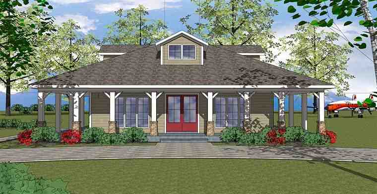 Bungalow, Country, Southern House Plan 72382 with 3 Beds, 2 Baths Elevation