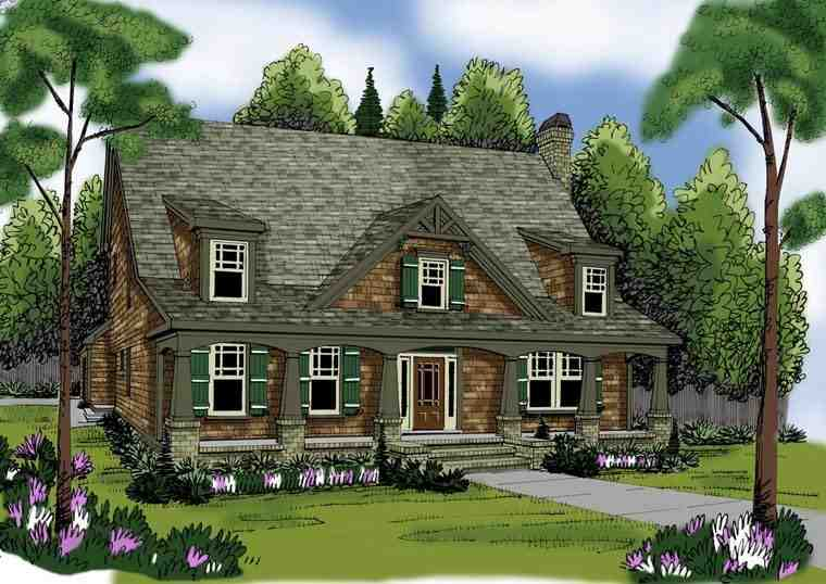 House Plan 72607 with 5 Beds, 4 Baths, 2 Car Garage Elevation