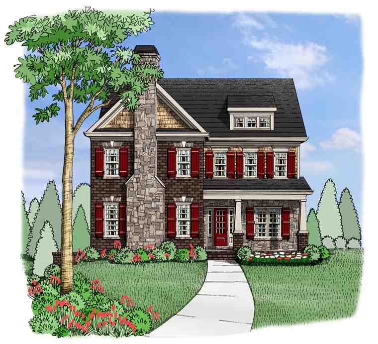 House Plan 72625 with 5 Beds, 4 Baths, 2 Car Garage Elevation