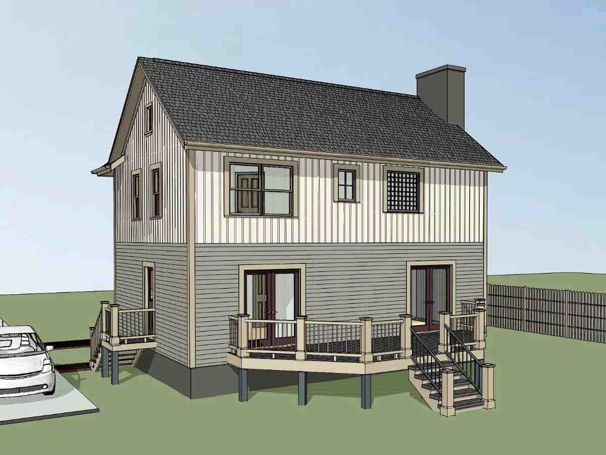 Bungalow House Plan 72742 with 3 Beds, 3 Baths Picture 1