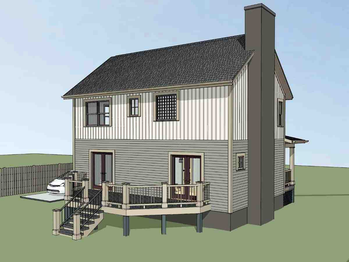 Bungalow House Plan 72742 with 3 Beds, 3 Baths Picture 2