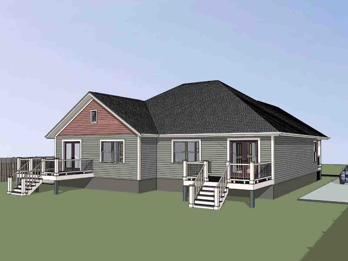 Bungalow Multi-Family Plan 72782 with 4 Beds, 2 Baths Picture 2