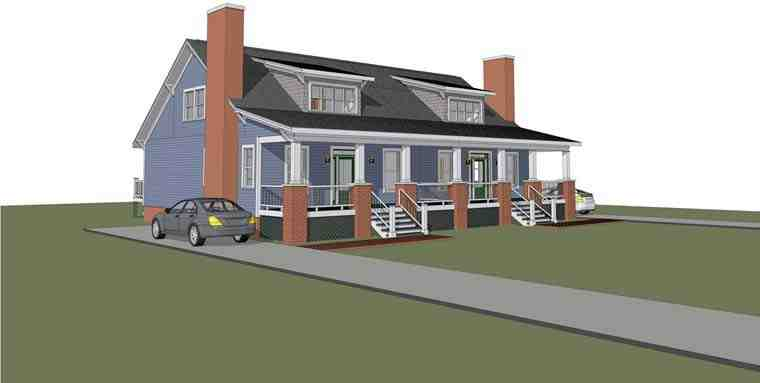 Multi-Family Plan 72788 with 6 Beds, 4 Baths Elevation