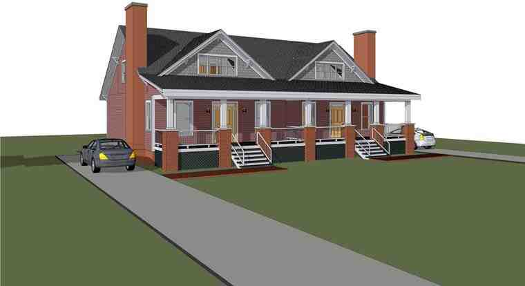 Multi-Family Plan 72789 with 6 Beds, 4 Baths Elevation