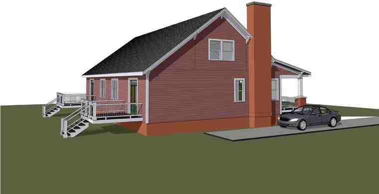 Multi-Family Plan 72789 with 6 Beds, 4 Baths Rear Elevation