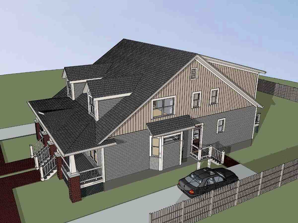 Multi-Family Plan 72790 with 6 Beds, 6 Baths Picture 1