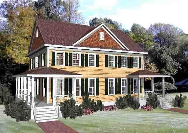 Multi-Family Plan 72791 with 6 Beds, 6 Baths, 2 Car Garage Elevation